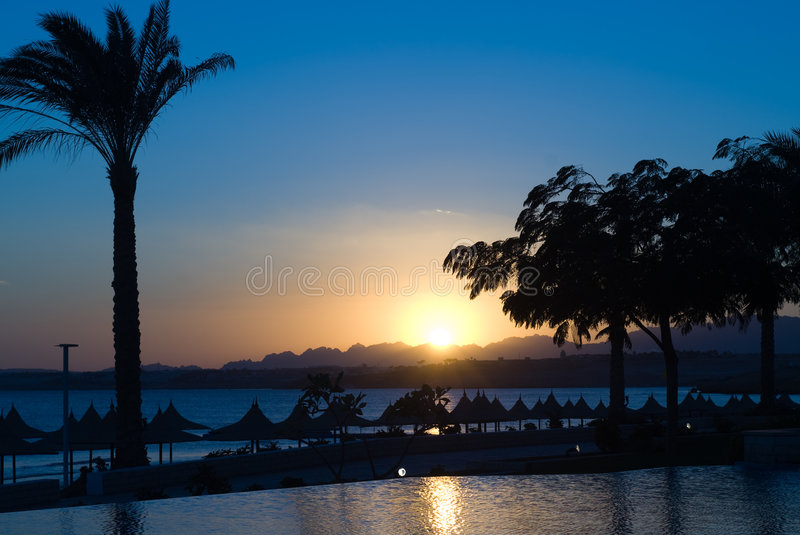 Por do sol em Egipto fotografia de stock royalty free