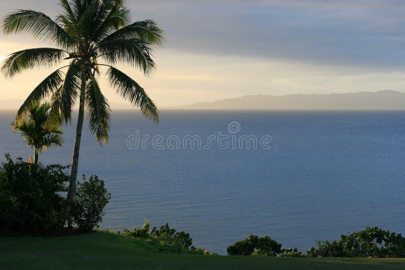 Por do sol em Fiji imagens de stock royalty free