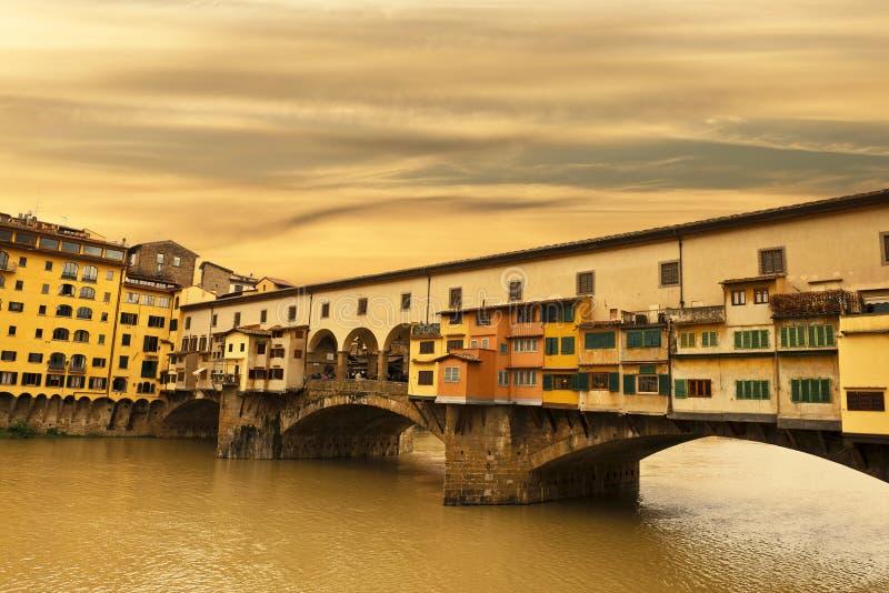 Por do sol em Florença fotografia de stock