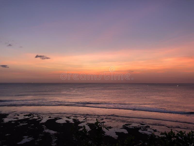 Por do sol em Gili Trawangan Island imagens de stock royalty free