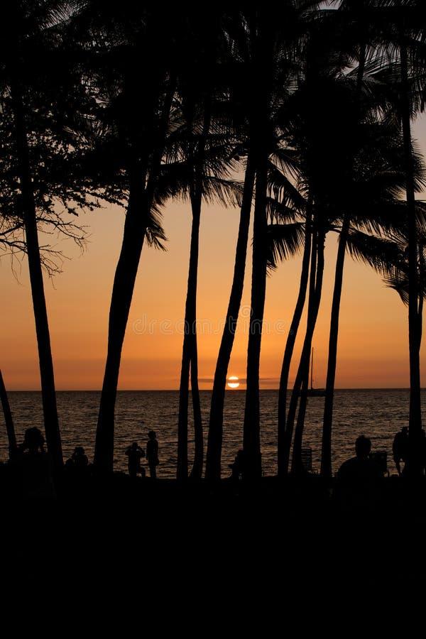 Por do sol em Havaí imagem de stock royalty free