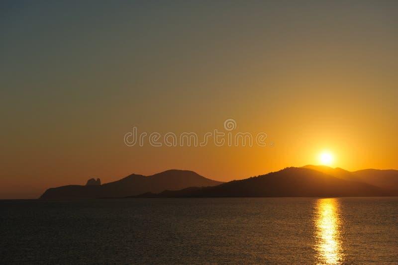 Por do sol em Ibiza foto de stock royalty free