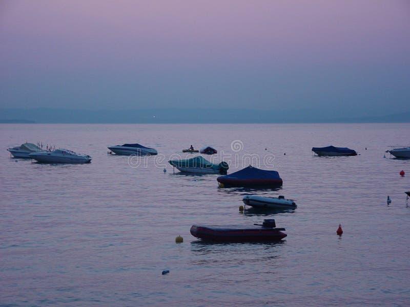 Por do sol em Italy foto de stock royalty free