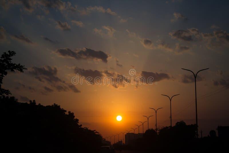 Por do sol em jaipur imagens de stock
