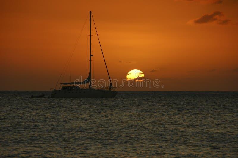 Por do sol em Jamaica imagens de stock royalty free