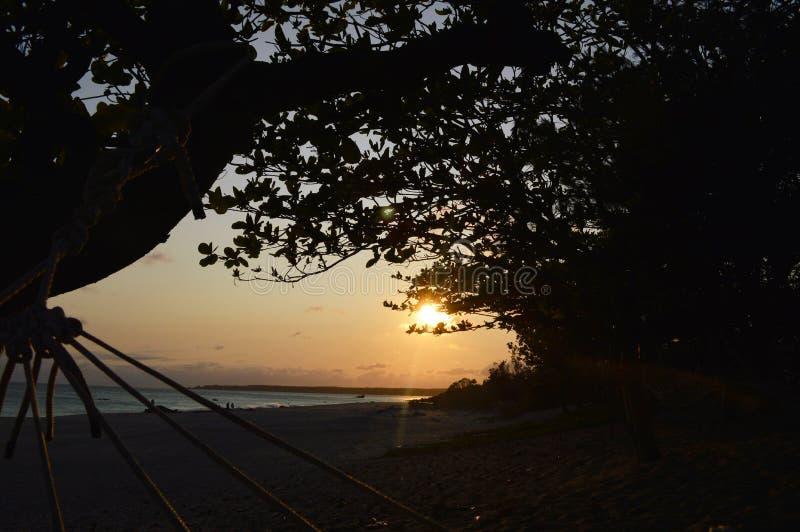 Por do sol em Kenting Taiwan fotografia de stock