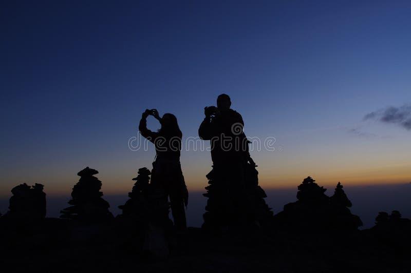 Por do sol em Kilimanjaro imagens de stock royalty free