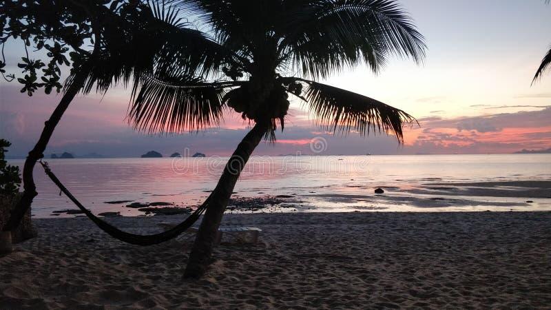 Por do sol em Koh Samui fotos de stock