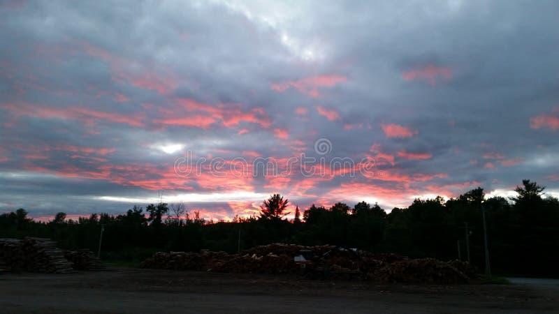 Por do sol em Maine fotos de stock royalty free