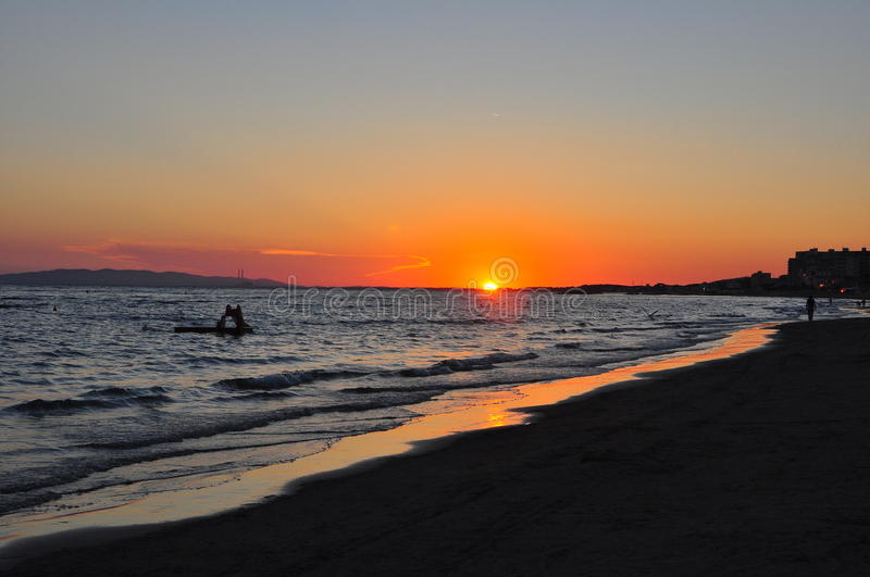 Por do sol em Maremma foto de stock royalty free