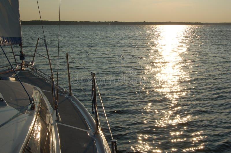 Por do sol em MikoÅajki fotos de stock royalty free