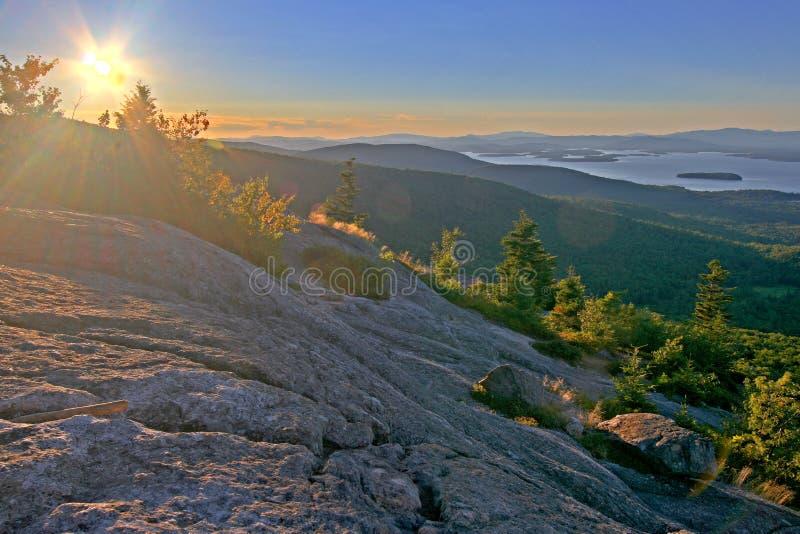 Por do sol em Nova Inglaterra imagens de stock royalty free