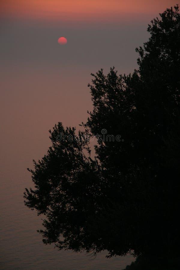 Por do sol em Oludeniz foto de stock