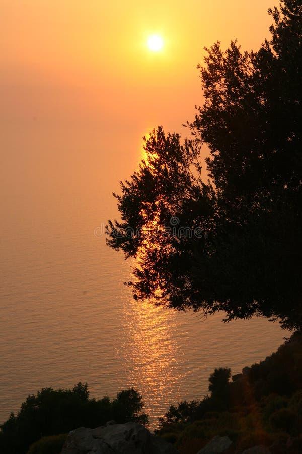 Por do sol em Oludeniz 2 imagens de stock