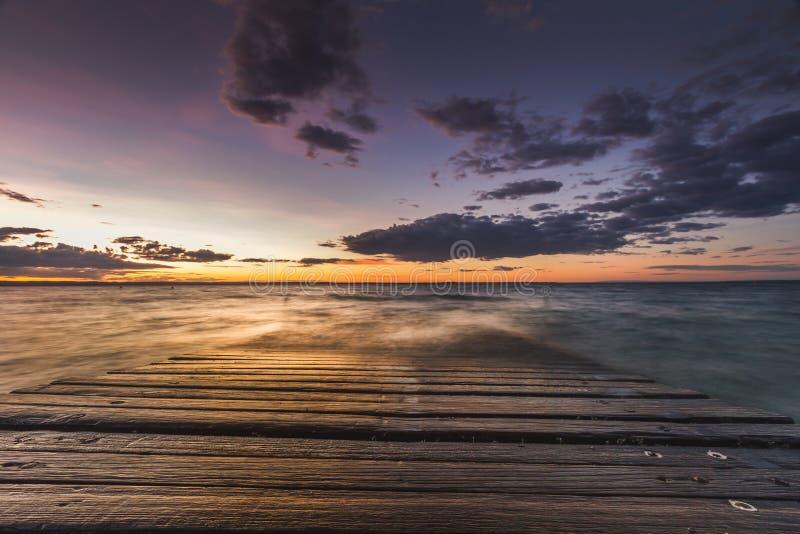 Por do sol em Phillip Island imagens de stock royalty free