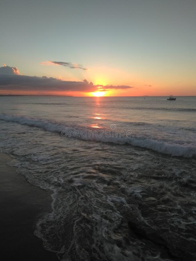 Por do sol em Porto Rico foto de stock
