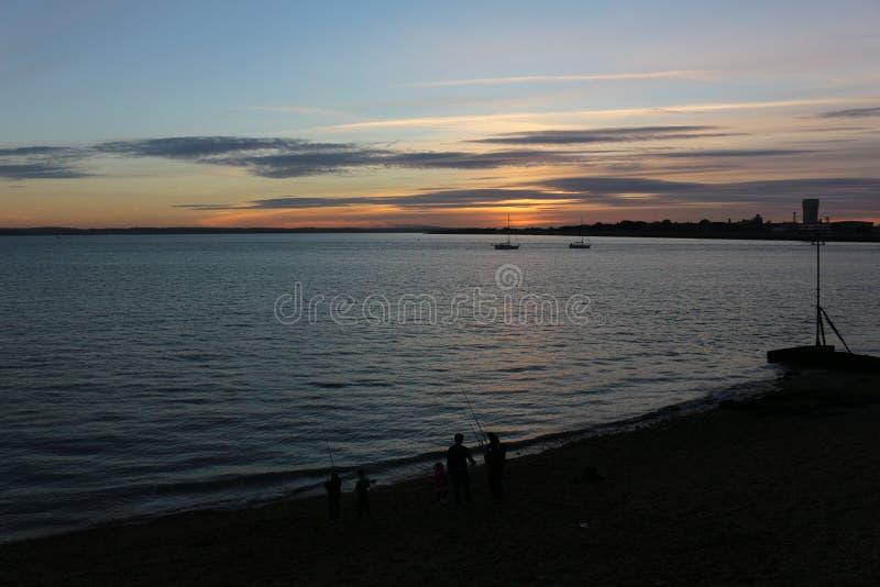 Por do sol em Portsmouth Reino Unido fotos de stock