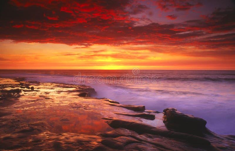 Por do sol em San Diego imagens de stock royalty free