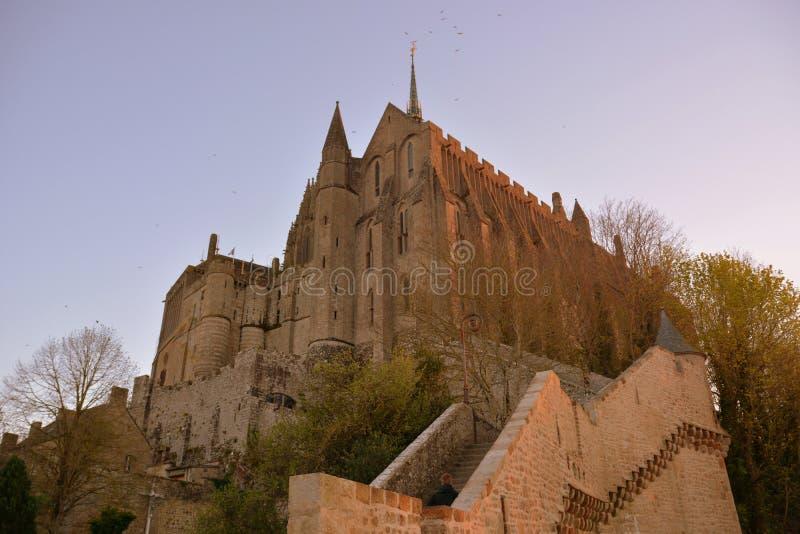 Por do sol em Sant-Michel fotografia de stock