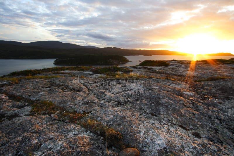 Por do sol em scotland fotografia de stock royalty free