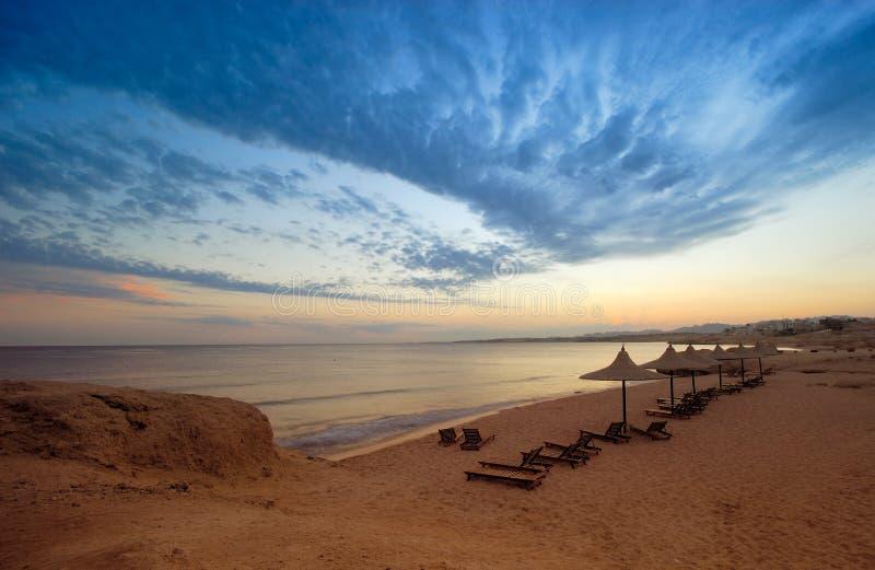 Por do sol em Sharm El Sheikh imagem de stock
