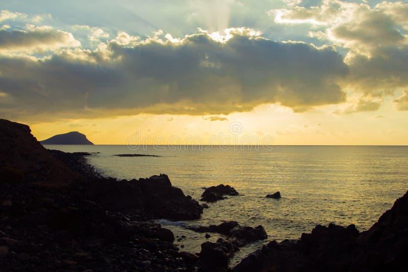 Por do sol em Tenerife foto de stock royalty free