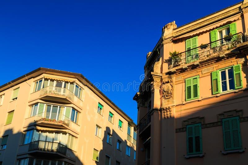 Por do sol em Trieste fotografia de stock