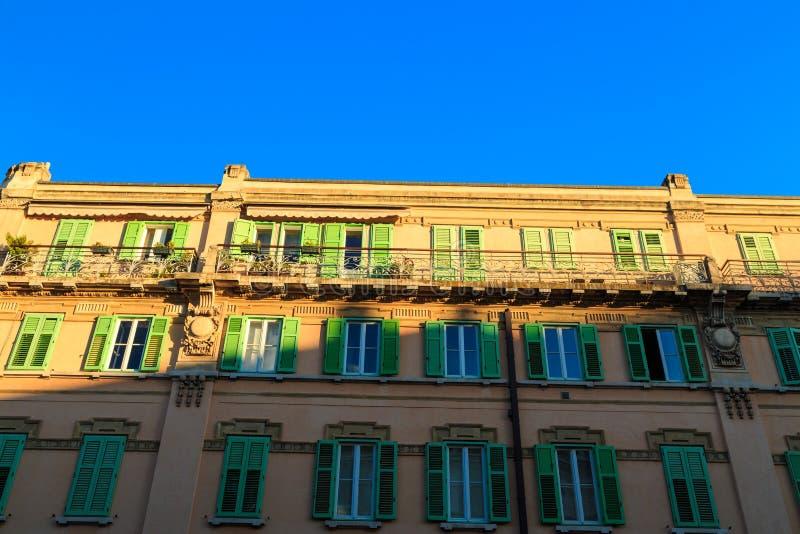 Por do sol em Trieste fotos de stock