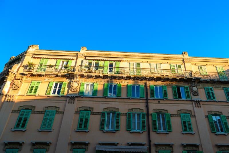 Por do sol em Trieste imagem de stock