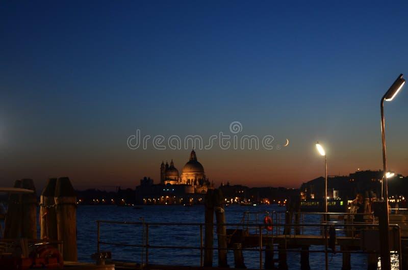 Por do sol em Veneza imagem de stock royalty free