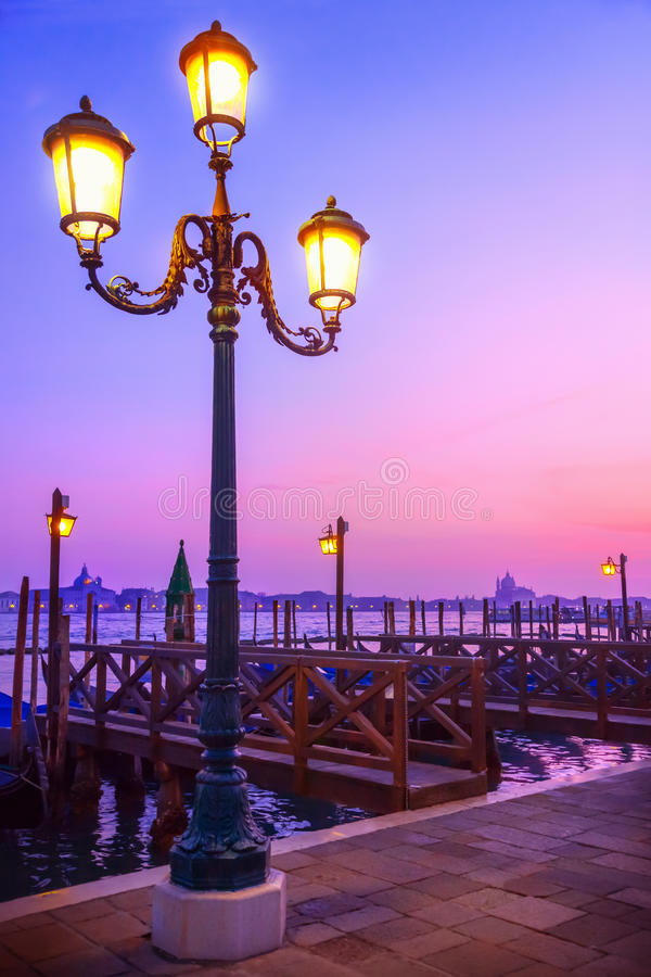 Por do sol em Veneza fotografia de stock royalty free
