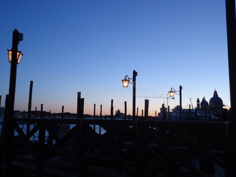 Por do sol em Veneza foto de stock royalty free
