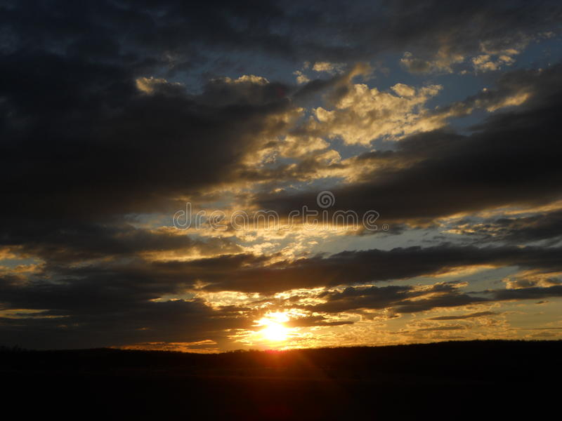 Por do sol espiritual fotografia de stock royalty free
