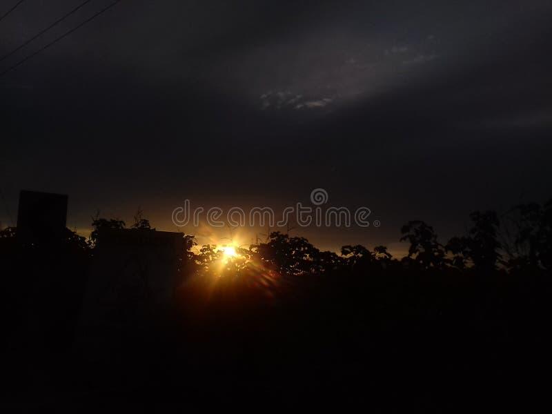 Por do sol fresco foto de stock
