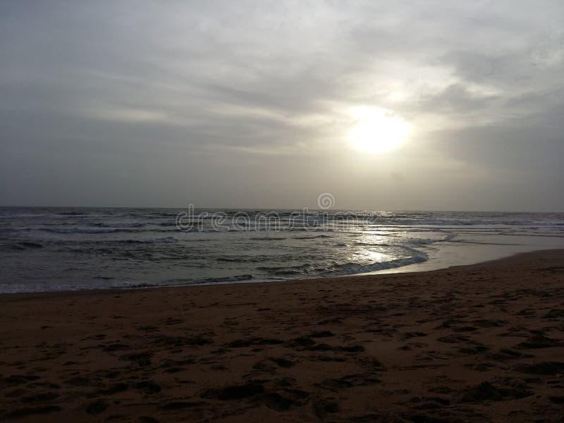 Por do sol Goa norte fotografia de stock royalty free
