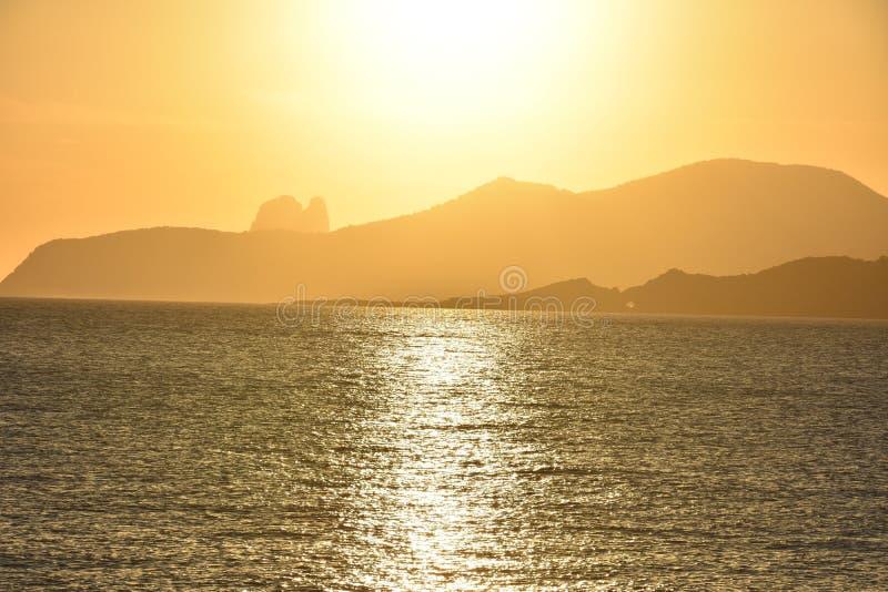 Por do sol Ibiza foto de stock