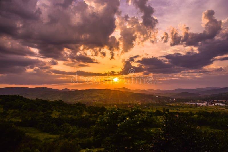 Por do sol ideal foto de stock