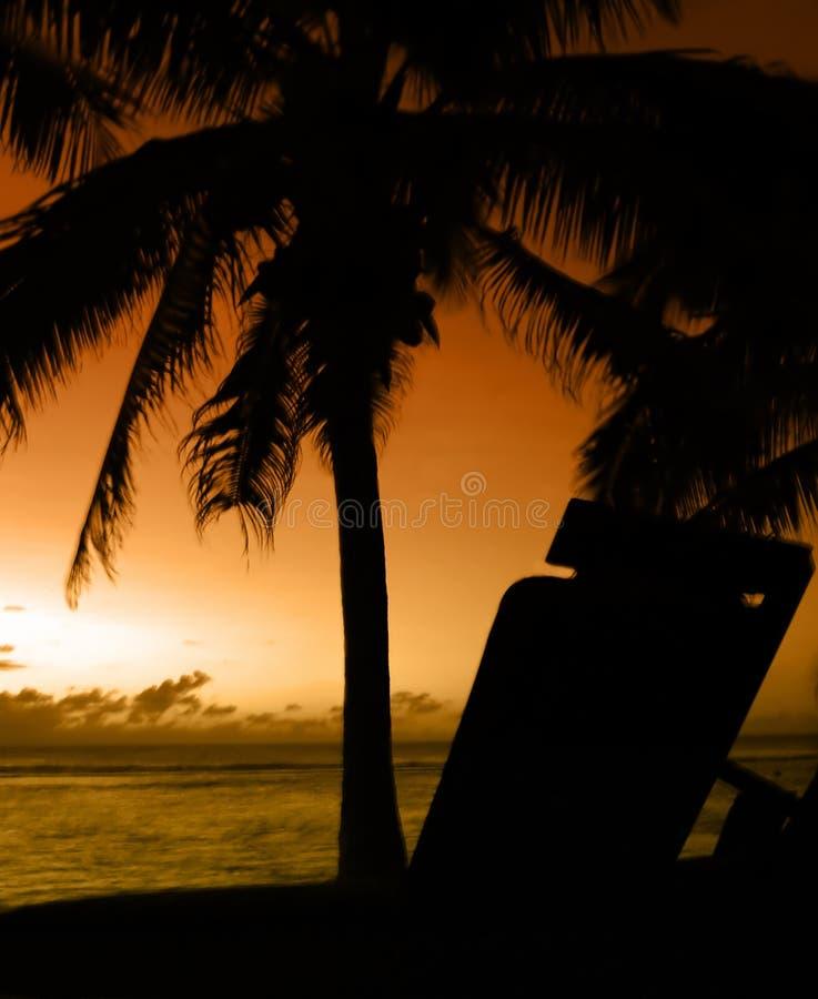 Por Do Sol Ideal Foto de Stock Royalty Free