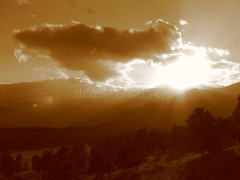 Por do sol III da montanha rochosa fotografia de stock royalty free