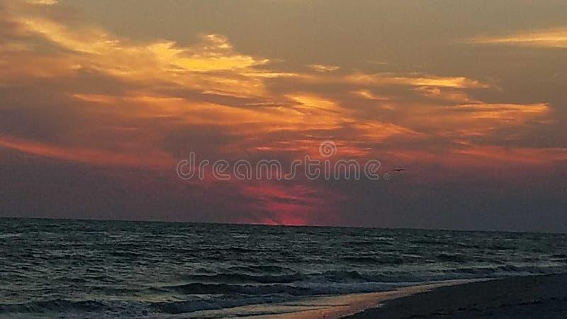 Por do sol impressionante de Sanibel foto de stock royalty free
