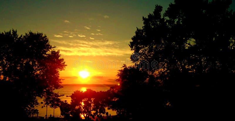 Por do sol incrível fotos de stock
