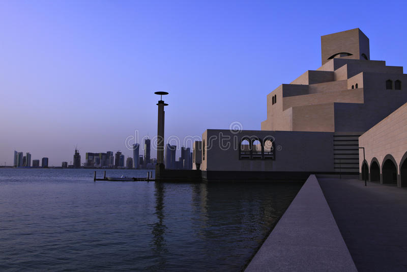 Por do sol islâmico do museu de arte fotos de stock royalty free