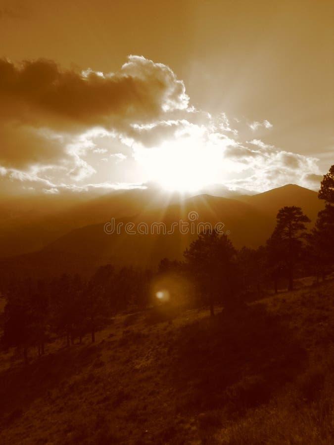 Por do sol IV da montanha rochosa imagens de stock royalty free