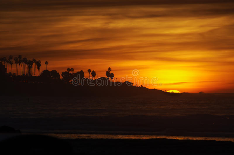 Por do sol, La Jolla Califórnia imagem de stock royalty free