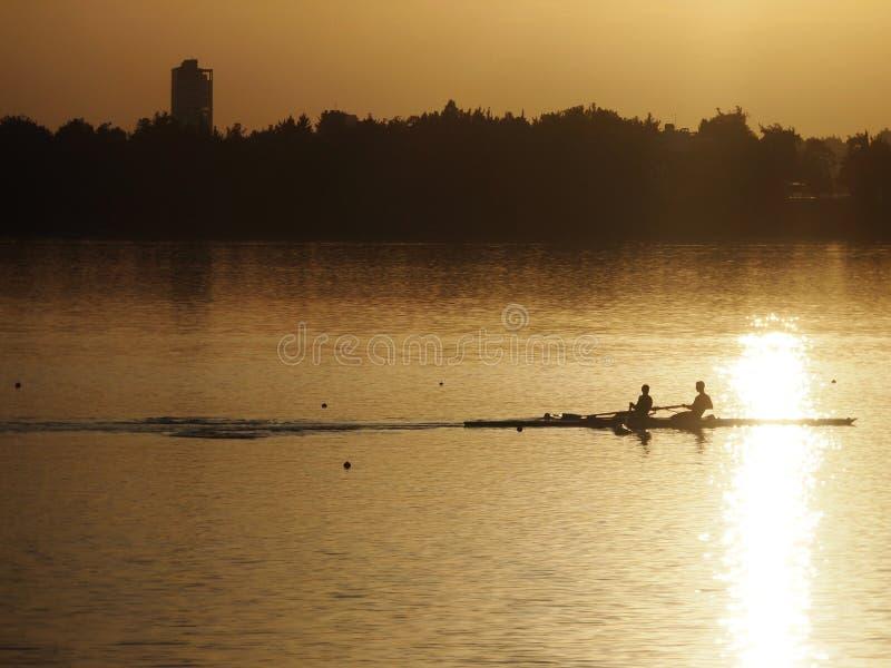 Por do sol do lago Adana Seyhan imagens de stock royalty free