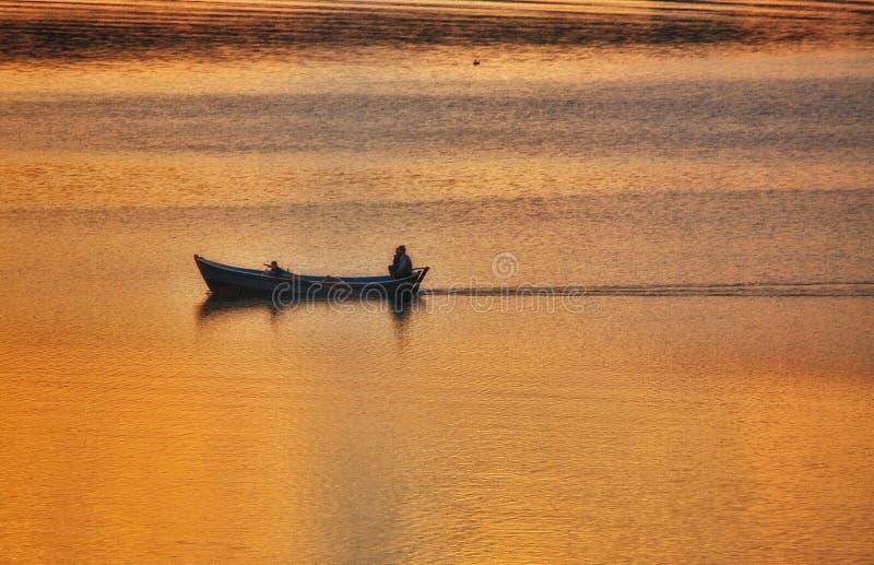 Por do sol do lago Adana Seyhan fotos de stock
