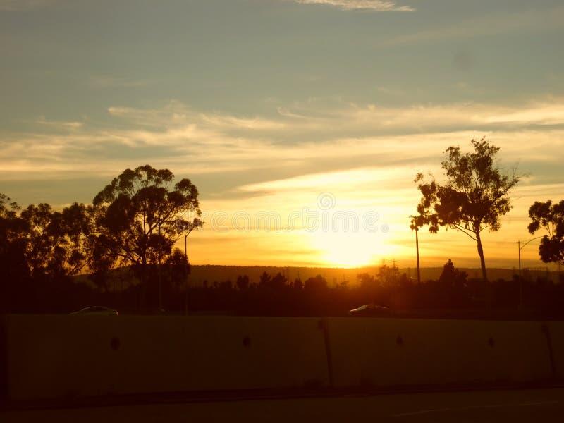 Por do sol lindo fotografia de stock royalty free