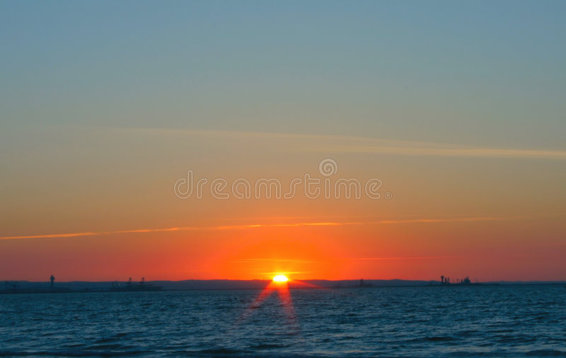 Por do sol lindo simples fotos de stock royalty free