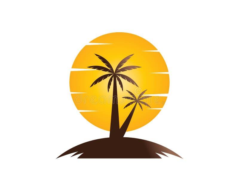 Por do sol Logo Template ilustração royalty free