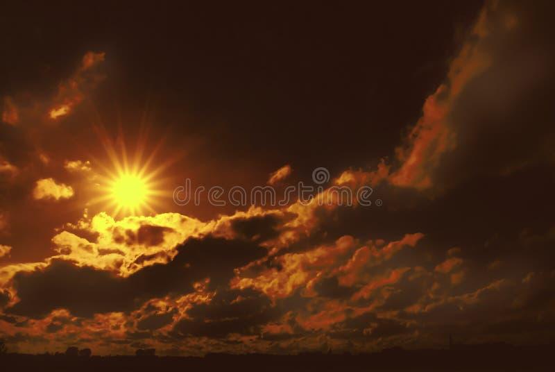 Por do sol místico fotografia de stock royalty free